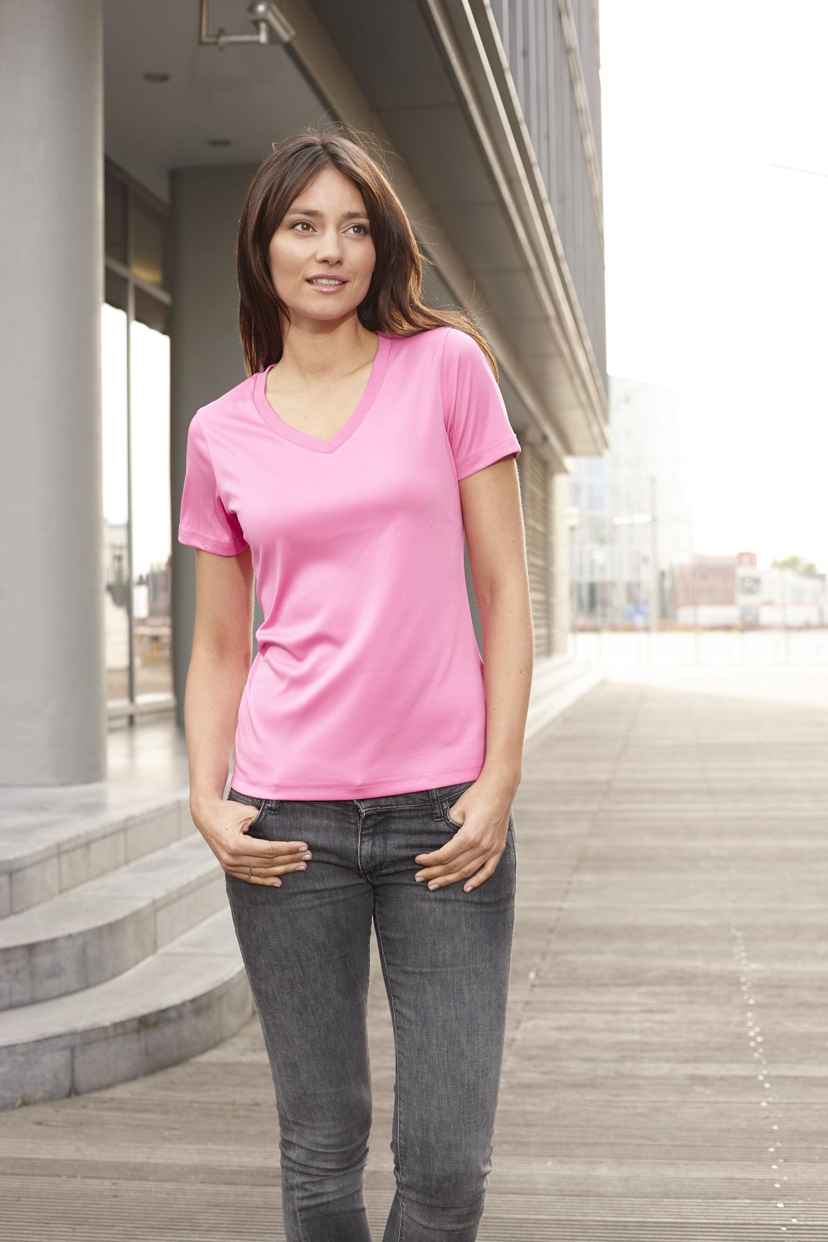 Naisten Active V-aukkoinen T-paita JN735