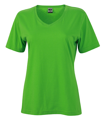 Naisten V-aukkoinen T-paita työkäyttöön Lime