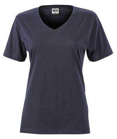 Naisten V-aukkoinen T-paita työkäyttöön Navy