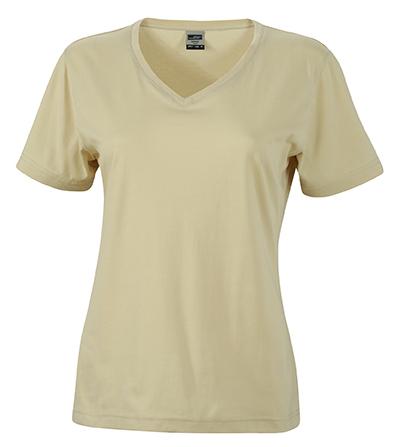 Naisten V-aukkoinen T-paita työkäyttöön Stone
