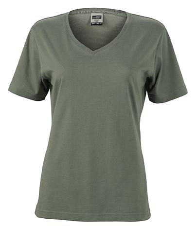 Naisten V-aukkoinen T-paita työkäyttöön Tummanharmaa