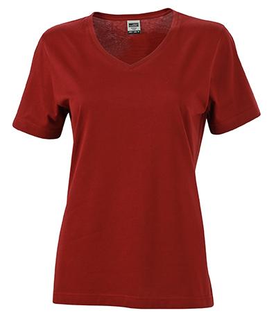 Naisten V-aukkoinen T-paita työkäyttöön Viini