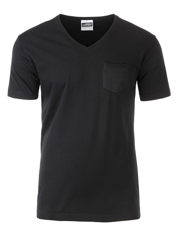 T-paita V-Pocket Musta