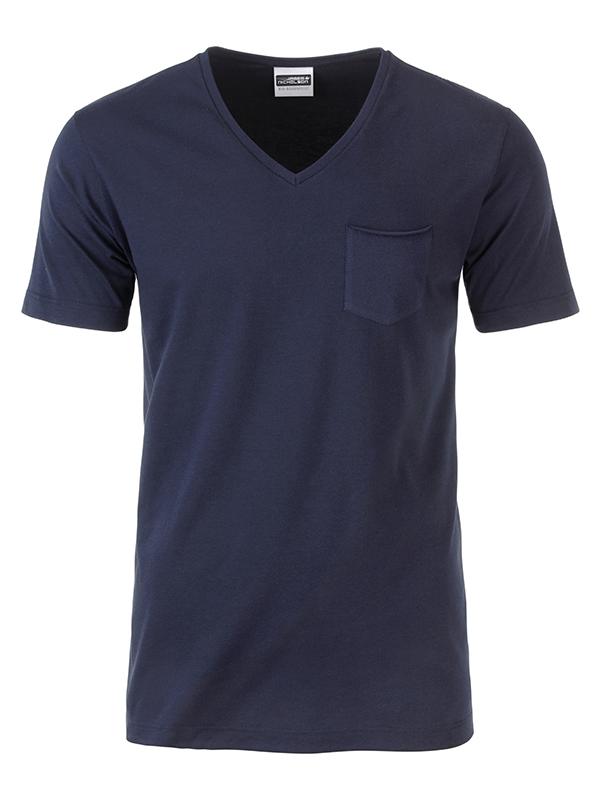 T-paita V-Pocket Navy