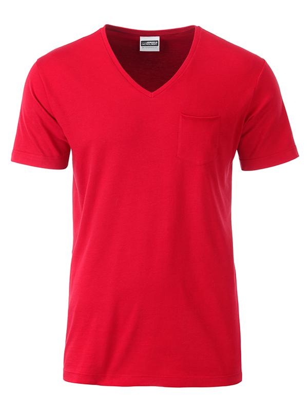 T-paita V-Pocket Punainen