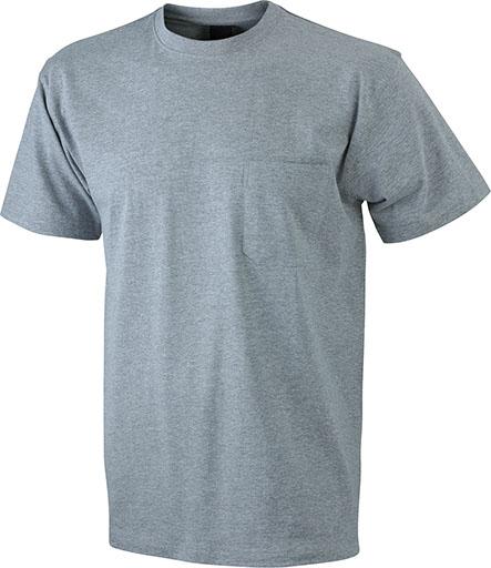 Taskullinen T-paita JN920, Meleerattu harmaa