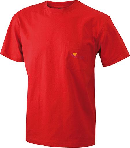 Taskullinen T-paita JN920, Punainen