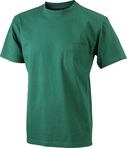 Taskullinen T-paita JN920, Tummanvihreä