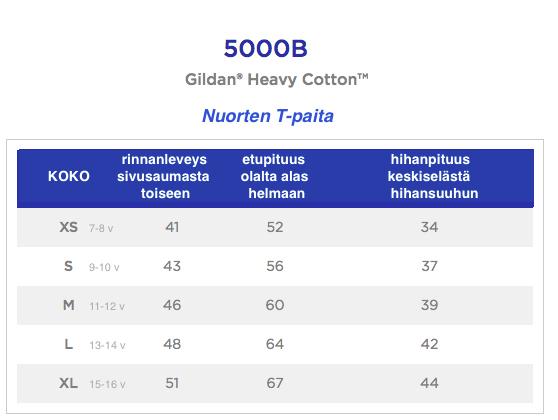 Mitat Nuorten Heavy Cotton T-paita 5000b
