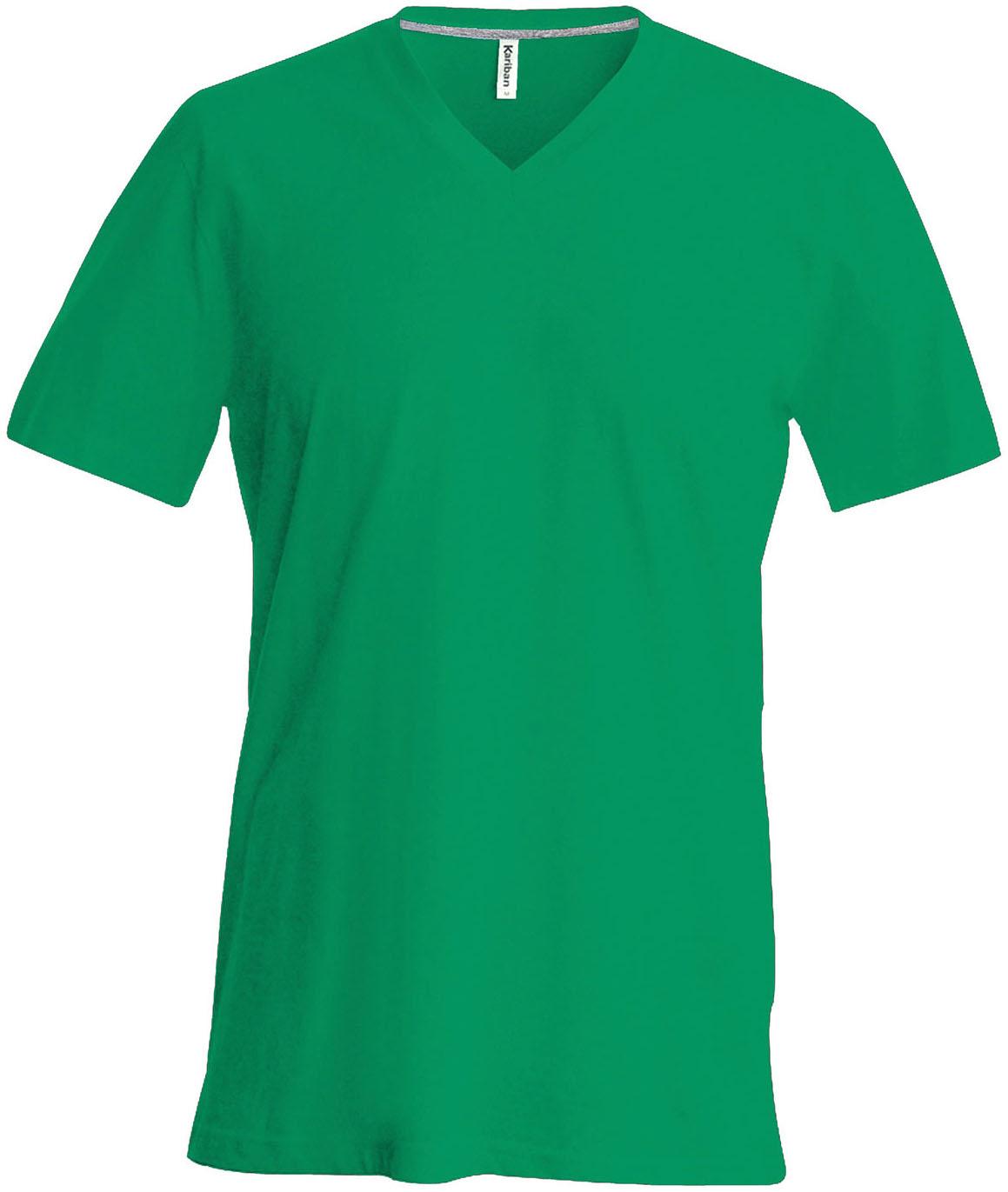 T-paita K356 V-aukko Kelly Green