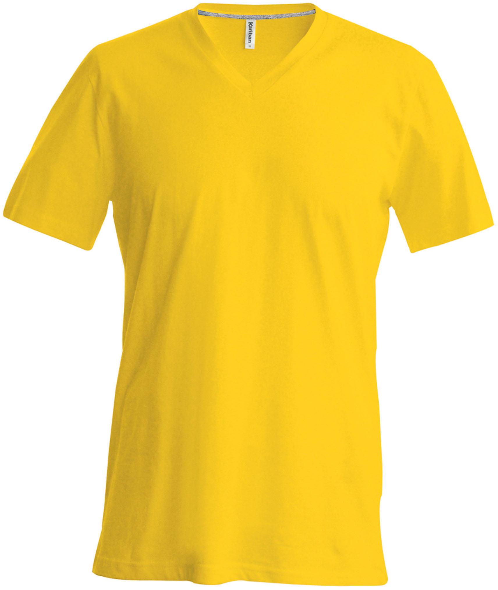 T-paita K356 V-aukko Keltainen