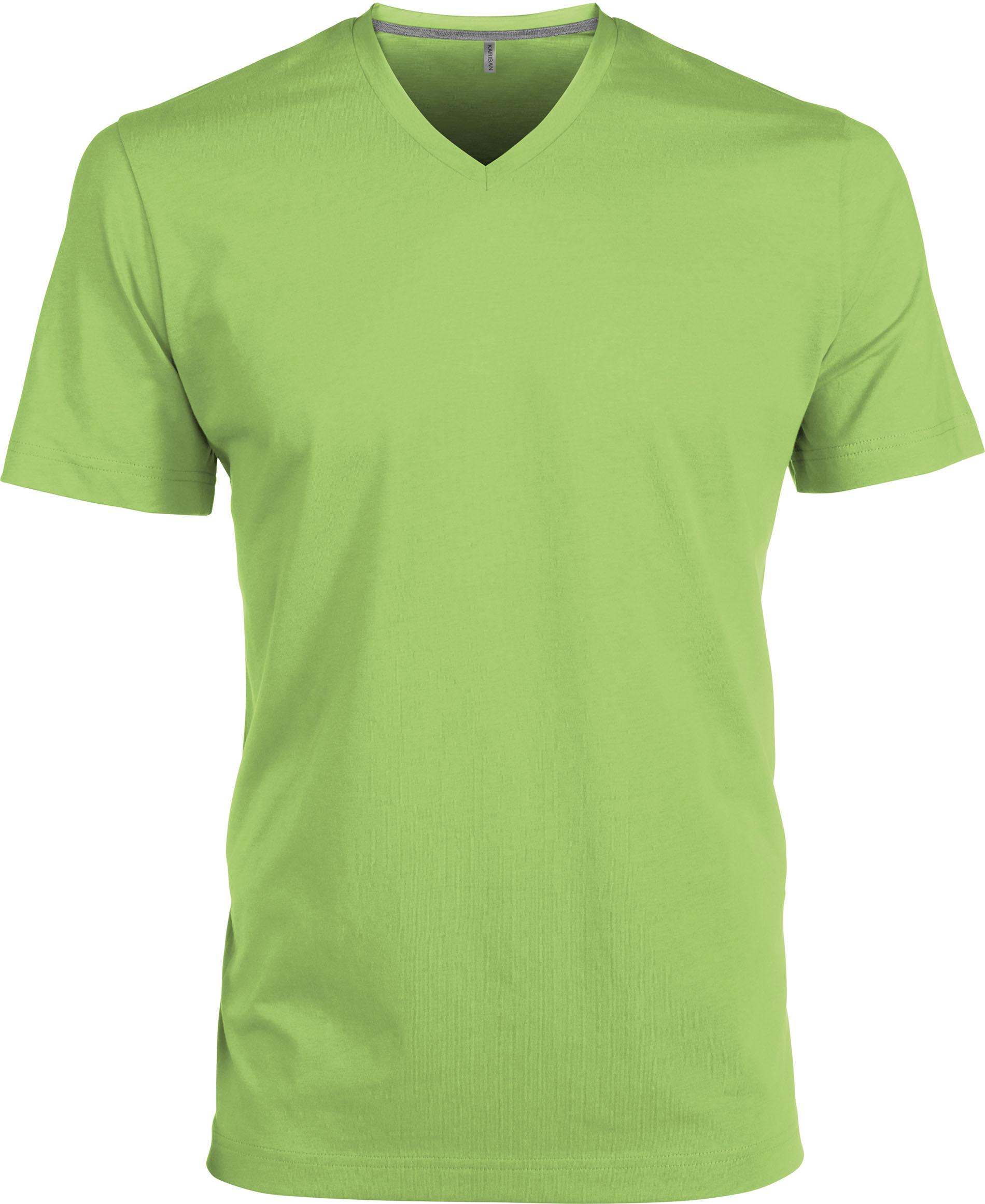 T-paita K356 V-aukko Lime