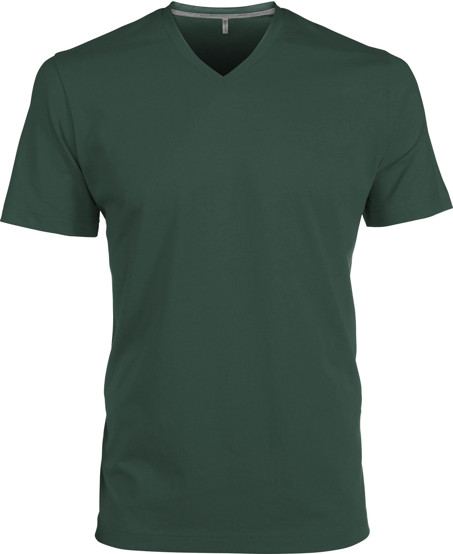 T-paita K356 V-aukko  Metsänvihreä