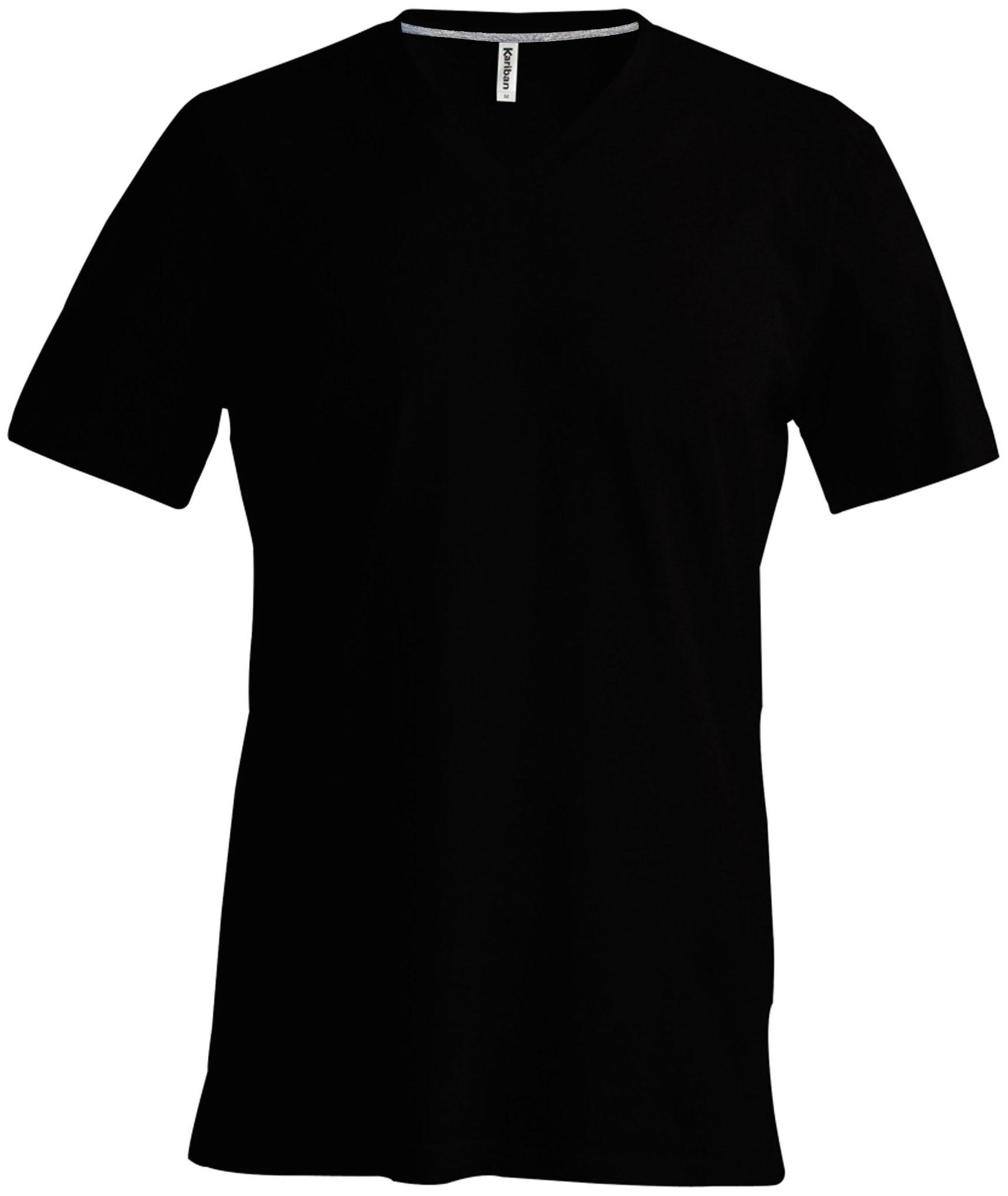 T-paita K356 V-aukko Musta