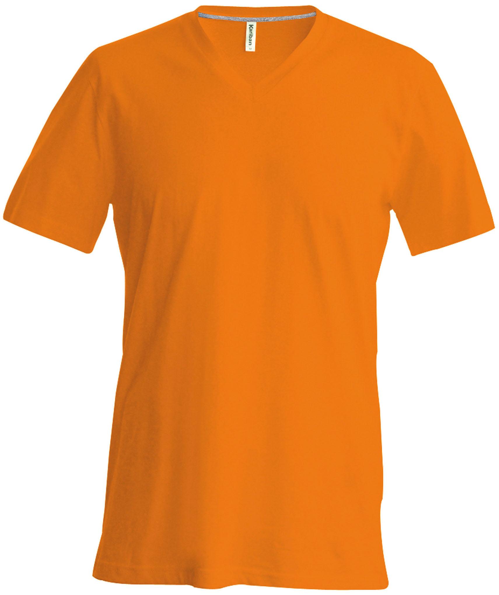 T-paita K356 V-aukko Oranssi