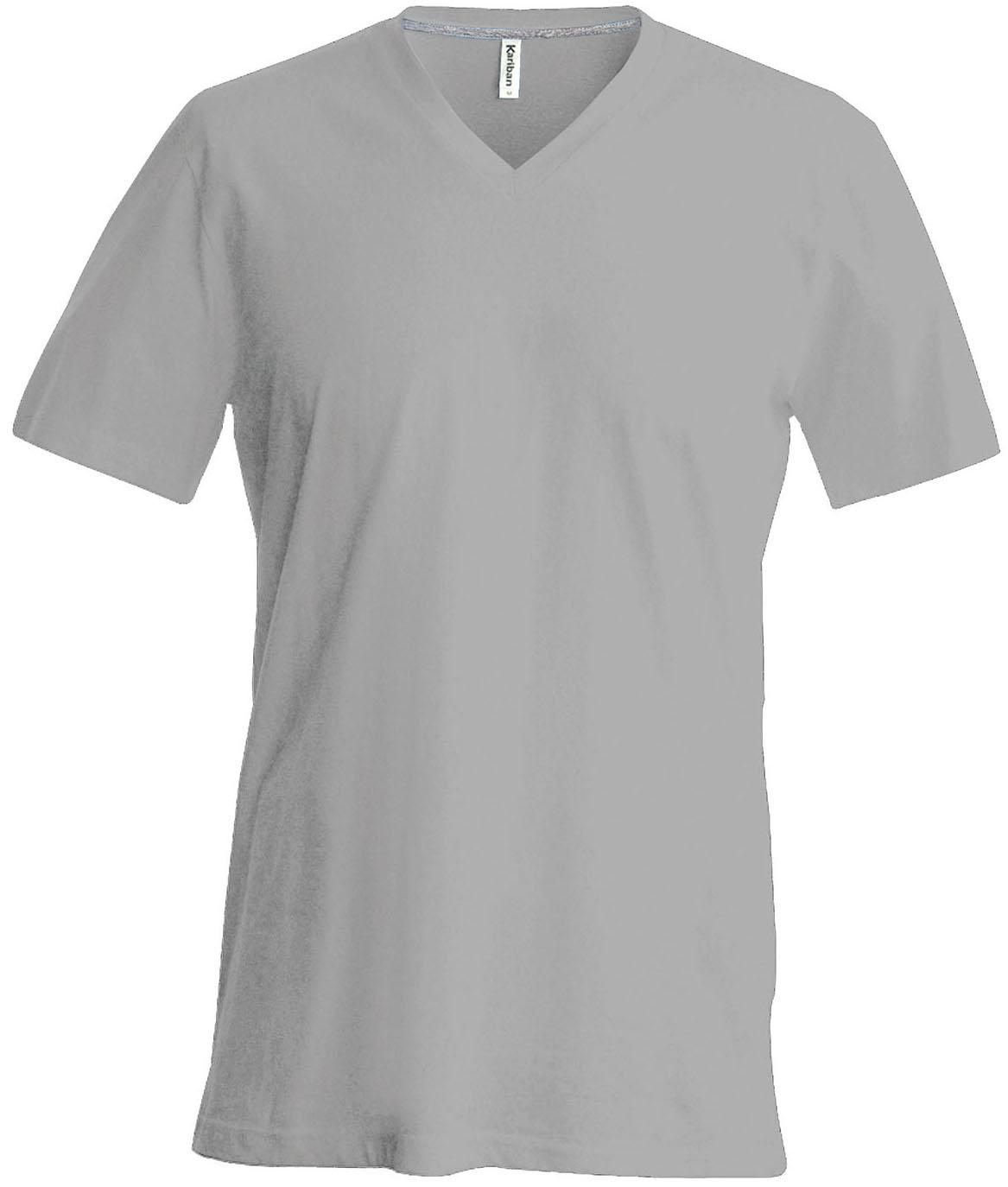 T-paita K356 V-aukko Oxford Grey