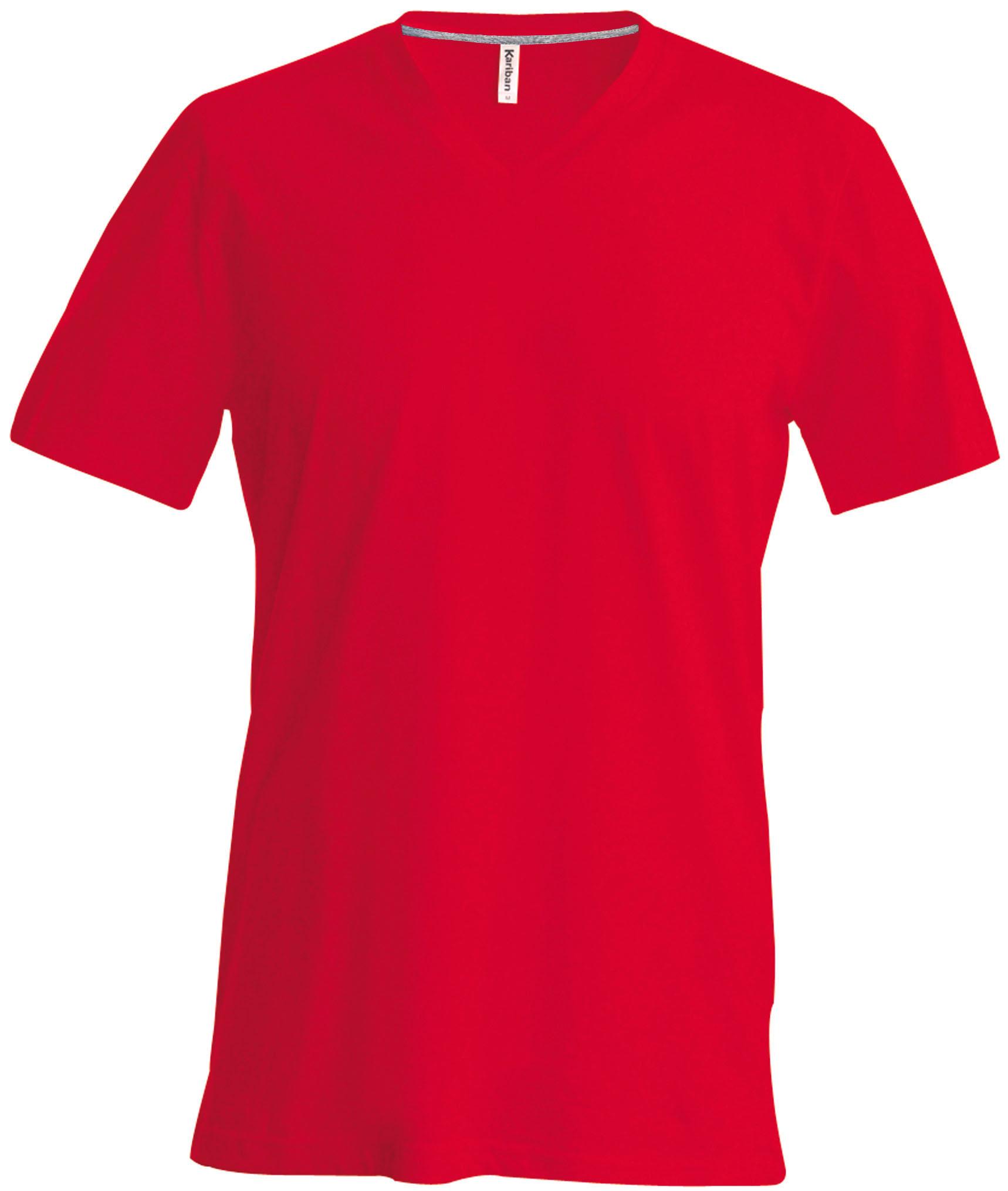 T-paita K356 V-aukko Punainen