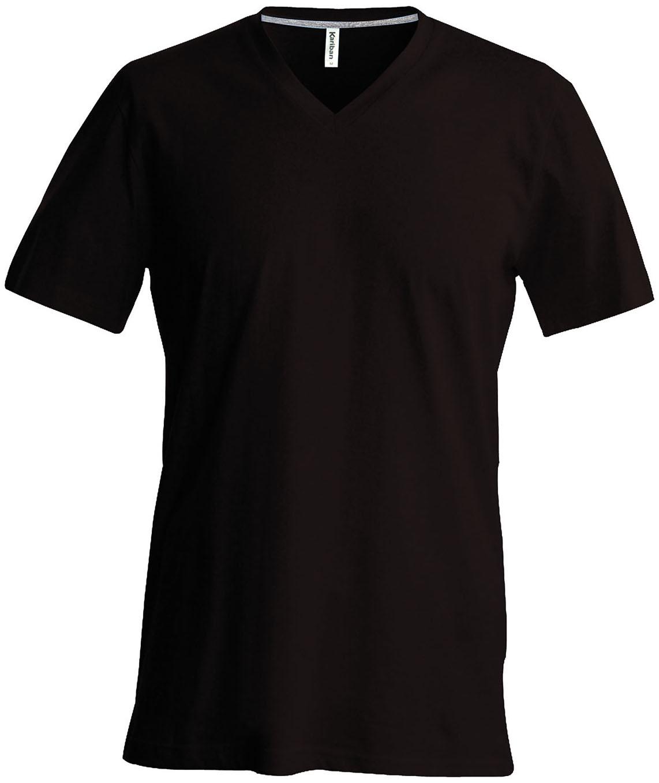 T-paita K356 V-aukko Suklaa