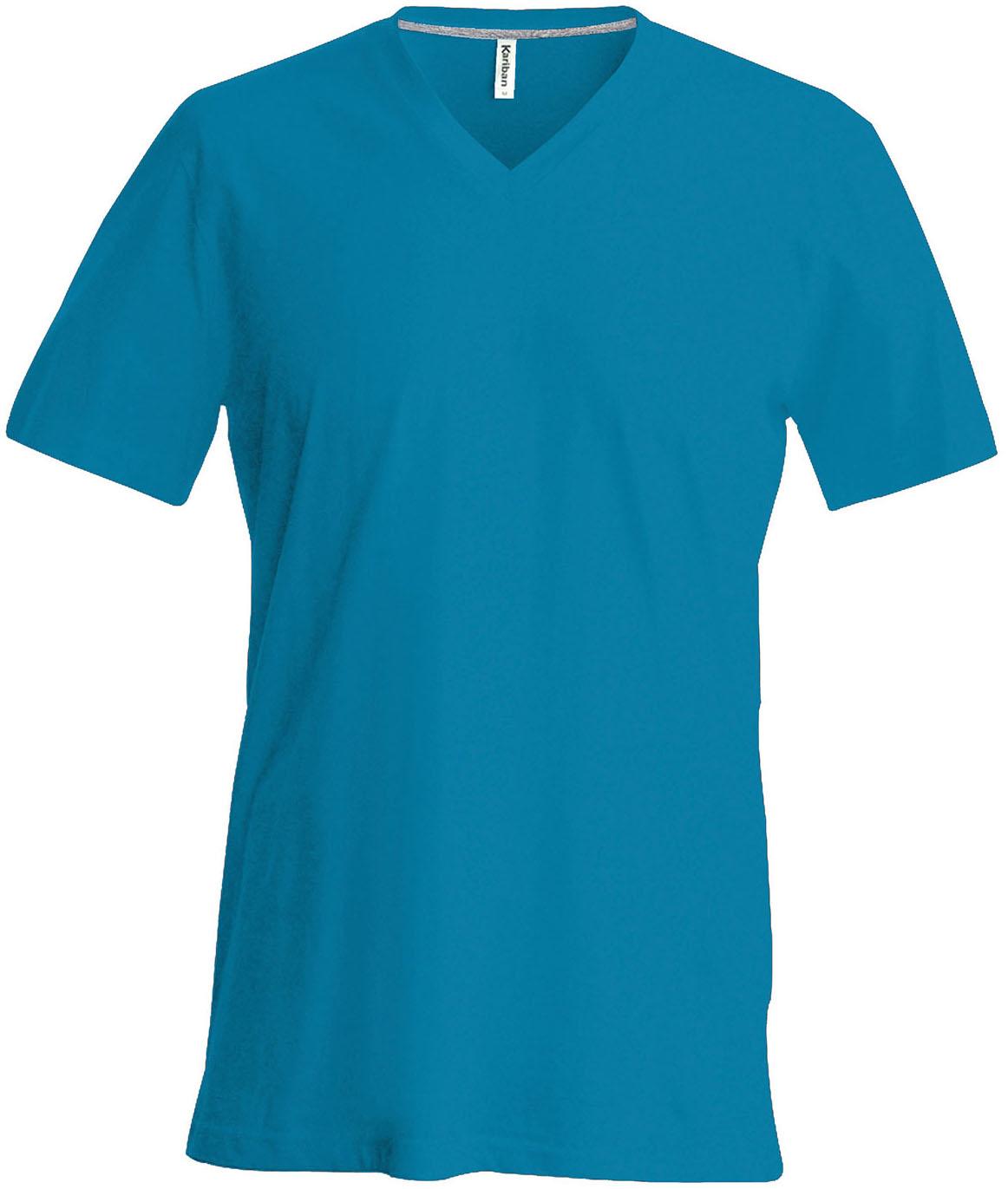 T-paita K356 V-aukko Tropical Blue
