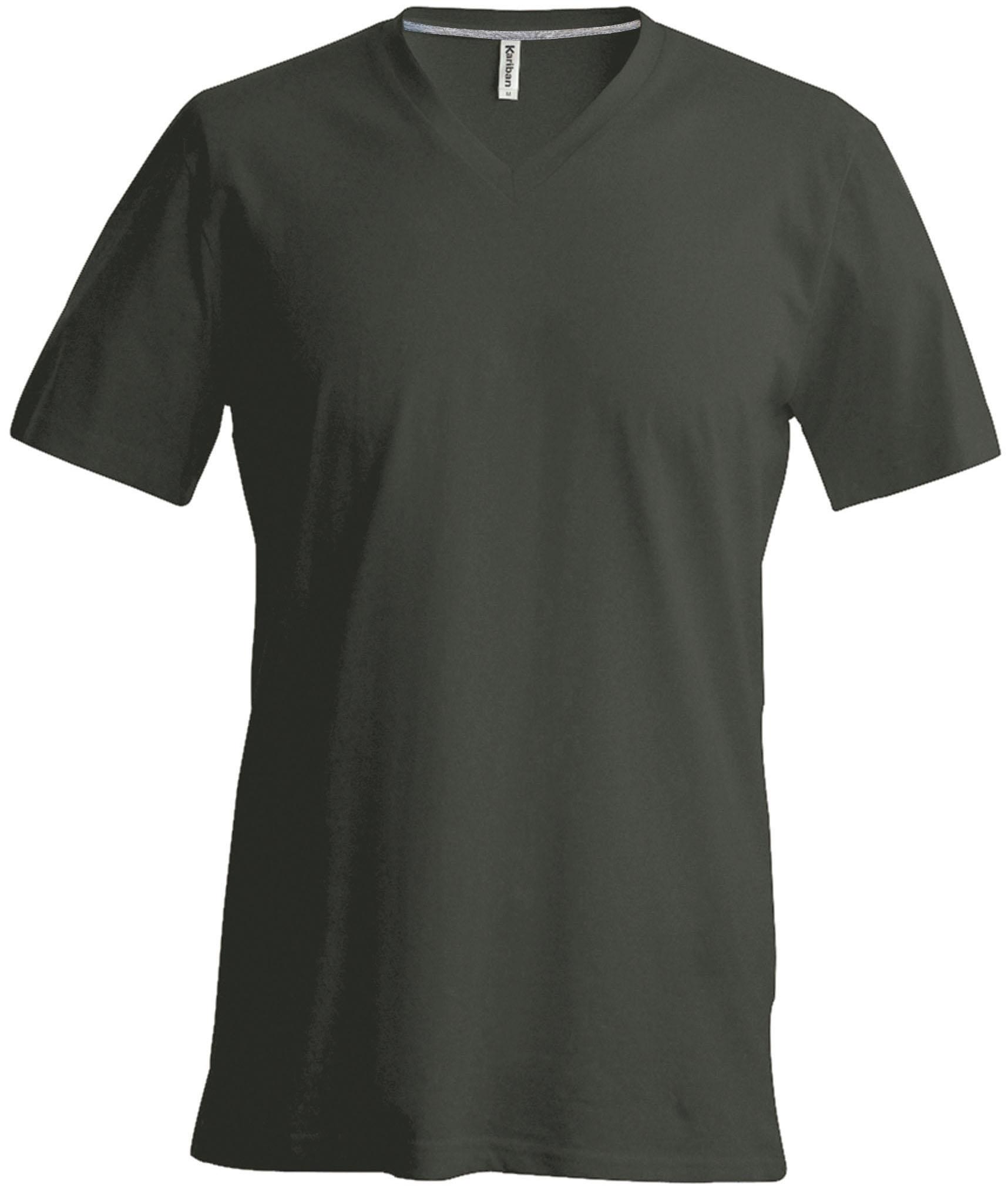 T-paita K356 V-aukko Tumma Khaki