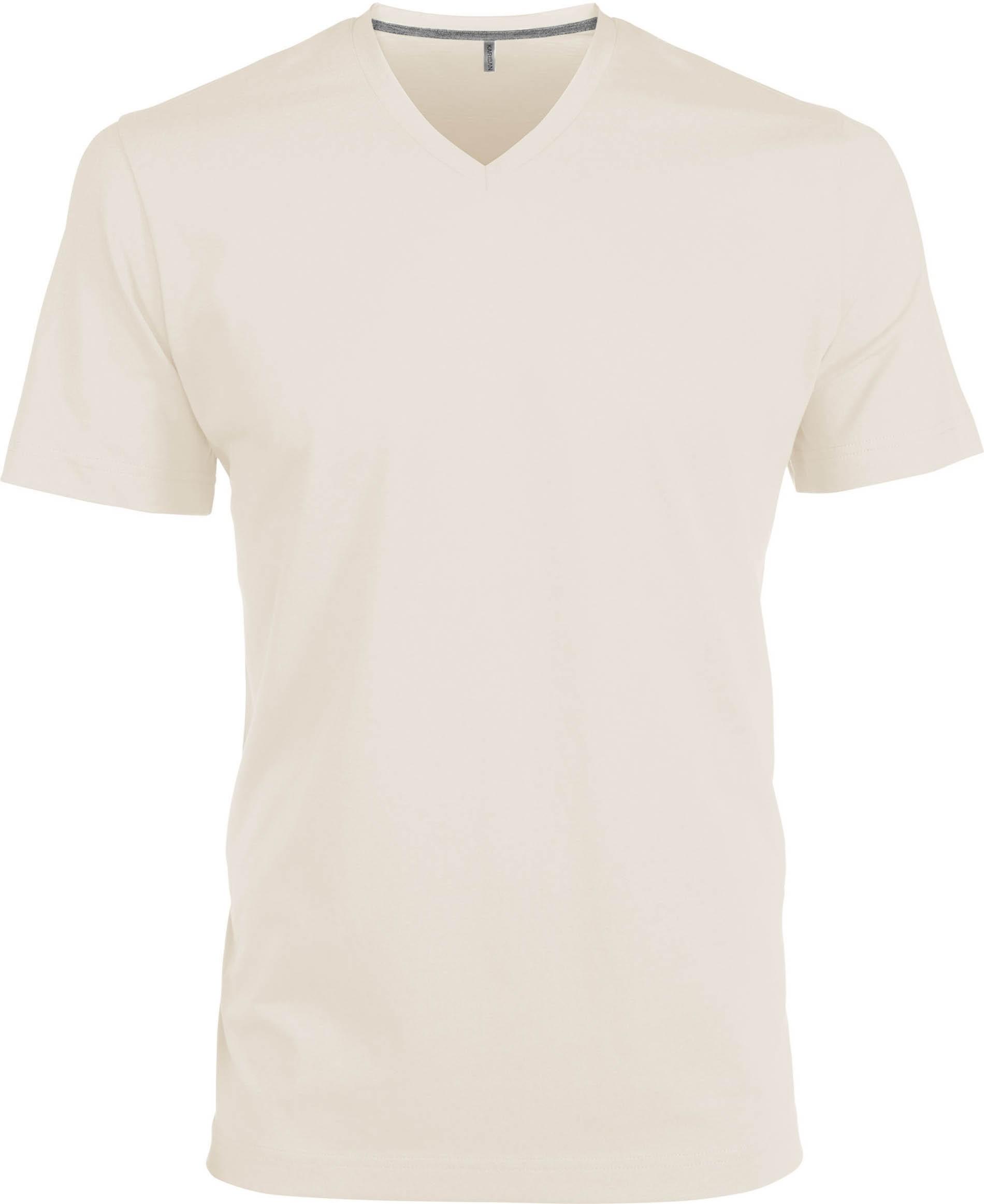 T-paita K356 V-aukko Vaalea Hiekka