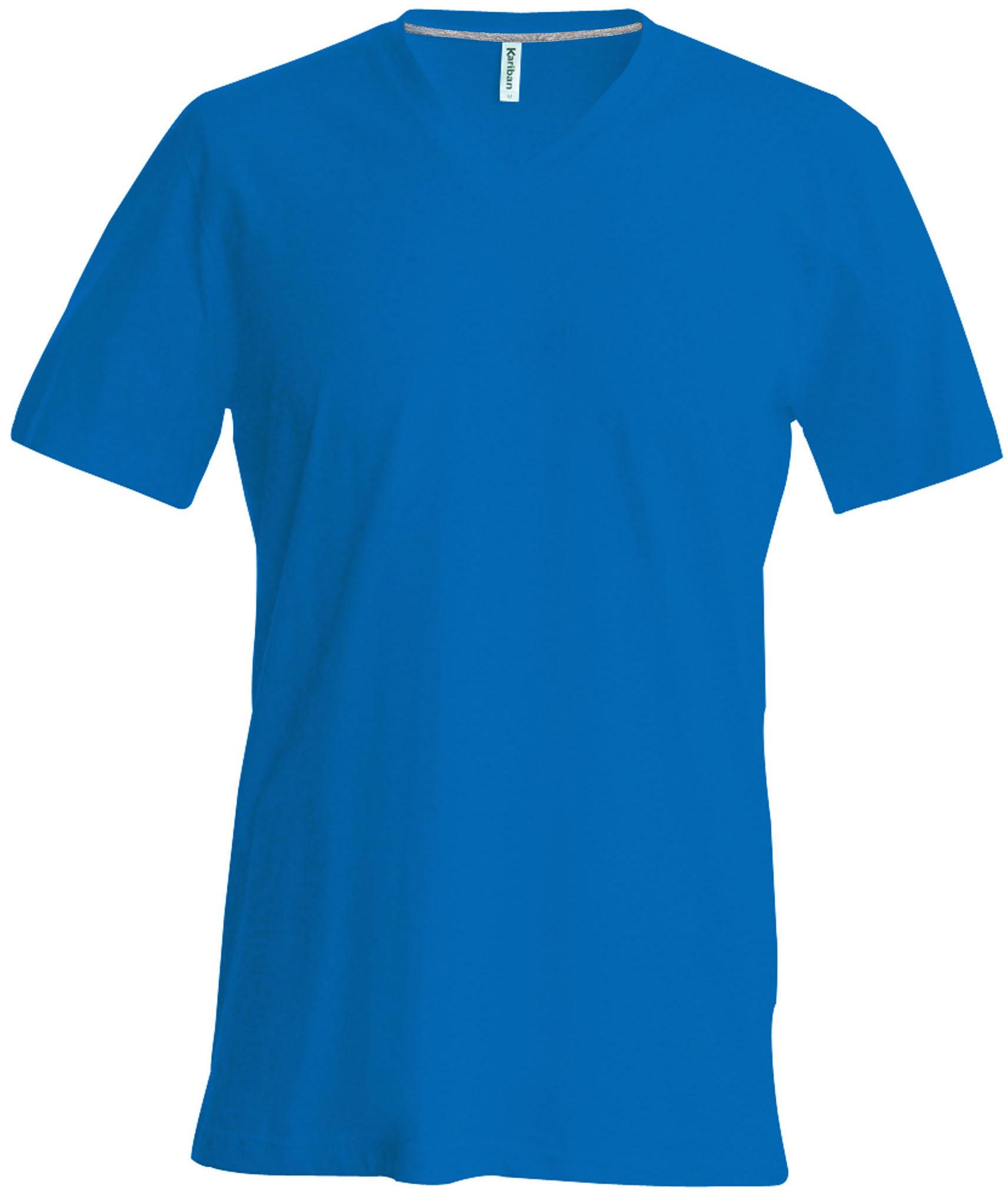 T-paita K356 V-aukko Vaalea Royal