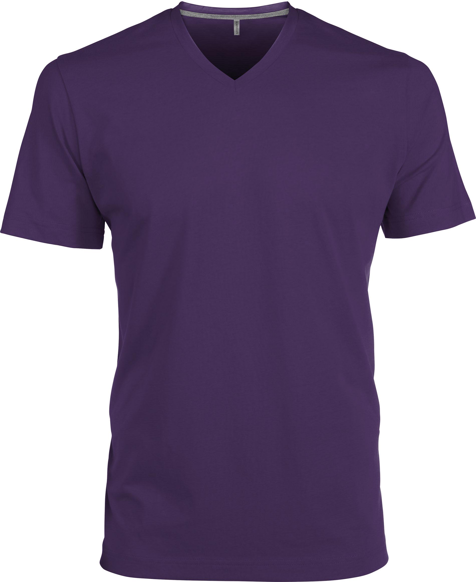 T-paita K356 V-aukko Violetti
