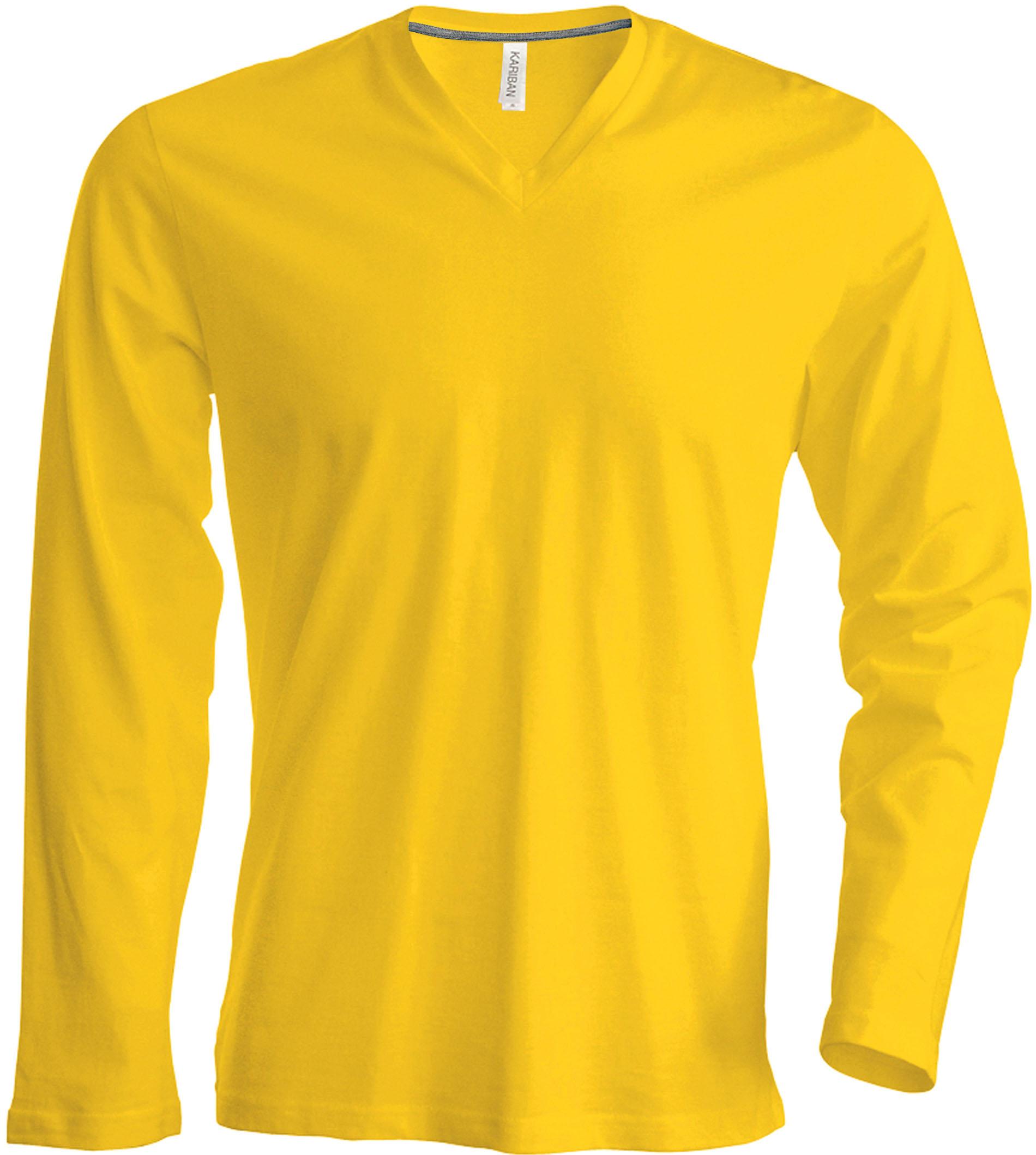 T-paita K358 V-aukko PH Keltainen