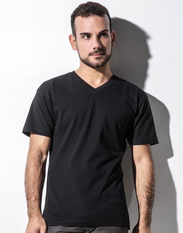 Miesten Orgaaninen V-aukko t-paita James