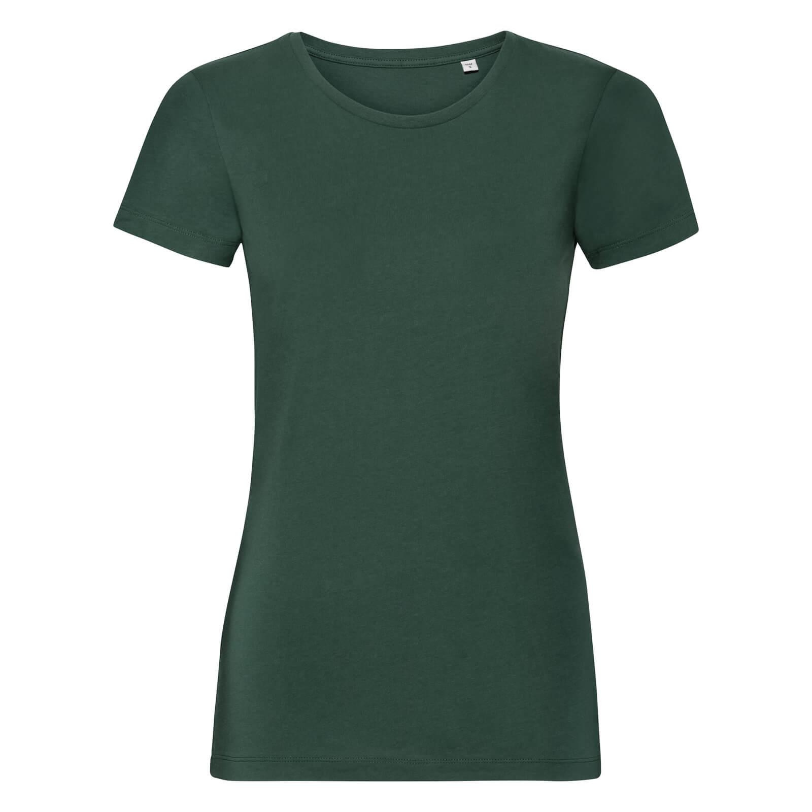 Naisten Pure Organic T-paita, Bottle Green