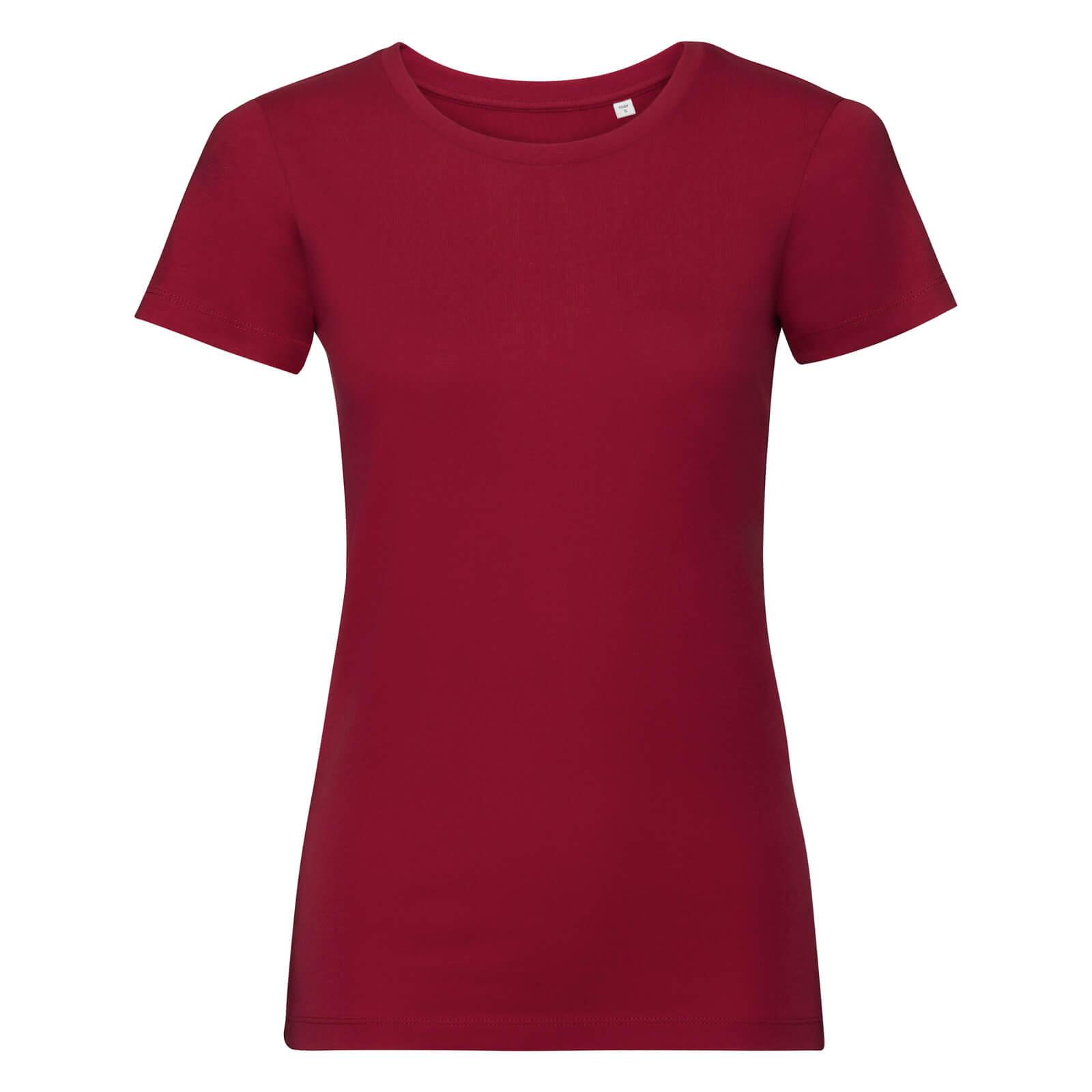 Naisten Pure Organic T-paita, Classic Red