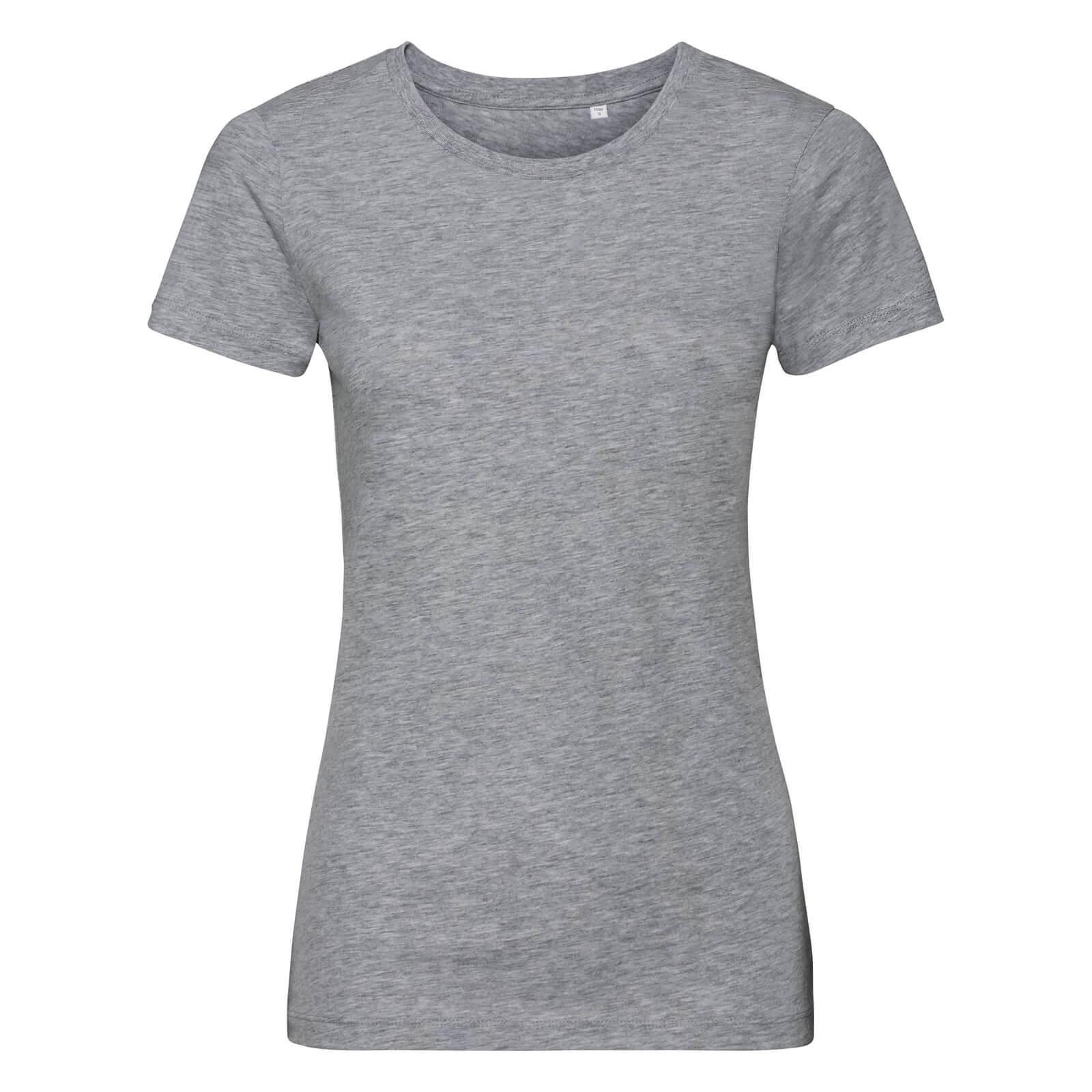 Naisten Pure Organic T-paita, meleerattu harmaa