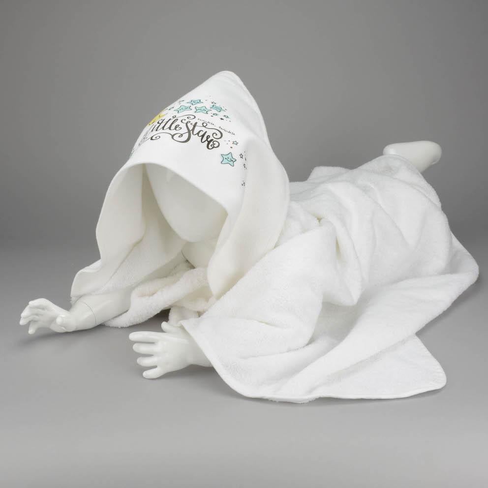 Vauvan pyyhe painatuksella