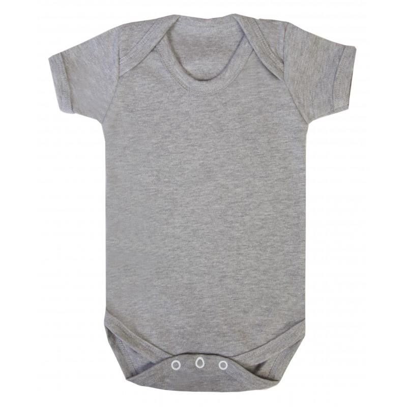Vauvan body Tagless Meleerattu harmaa