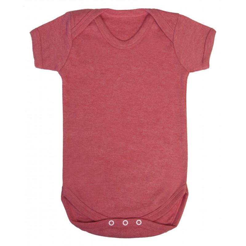Vauvan body Tagless Meleerattu punainen