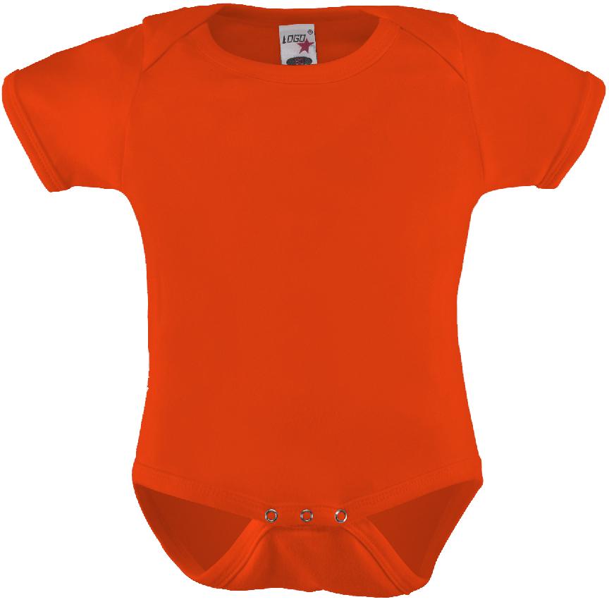 Vauvan body Logo Oranssi