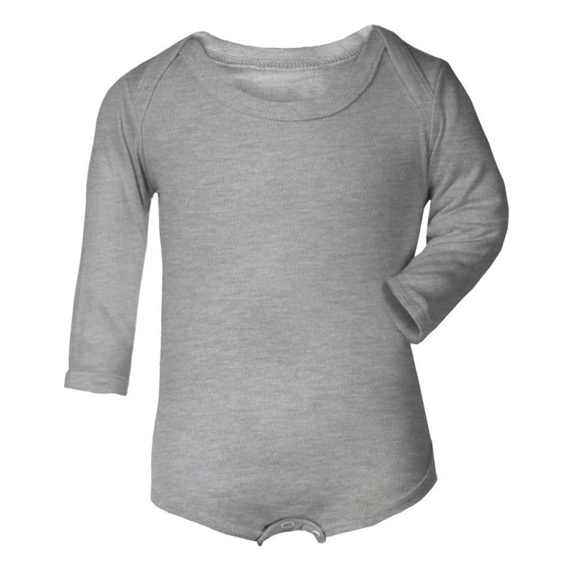Vauvan pitkähihainen body Tagless maleerattu harmaa