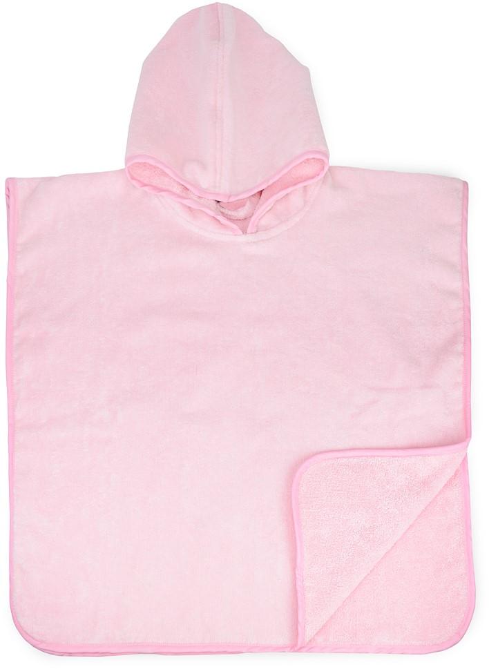 Vauvan kylpypyyhe Poncho, vaaleanpunainen
