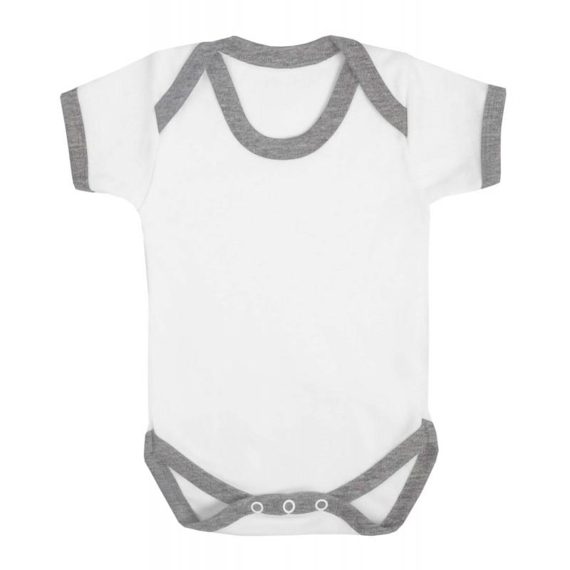 Vauvanbody Contrast, meleerattu harmaa