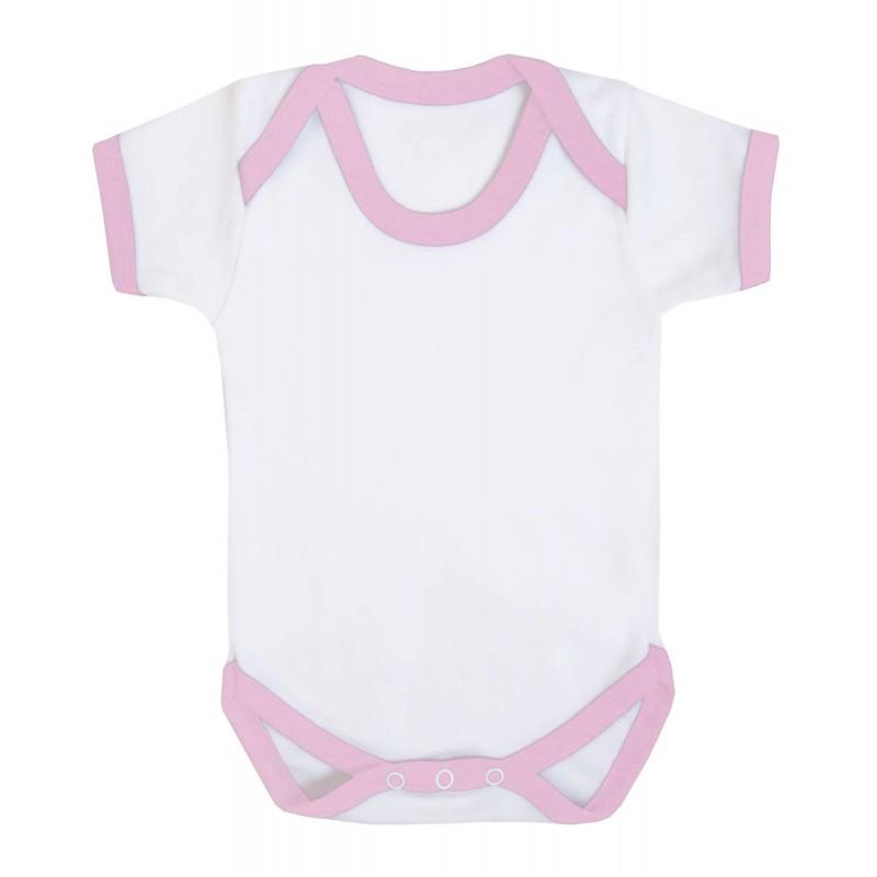 Vauvanbody Contrast, vaaleanpunainen