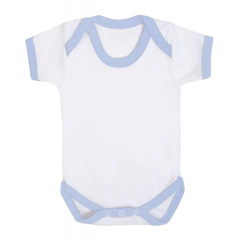 Vauvanbody Contrast, vaaleansininen