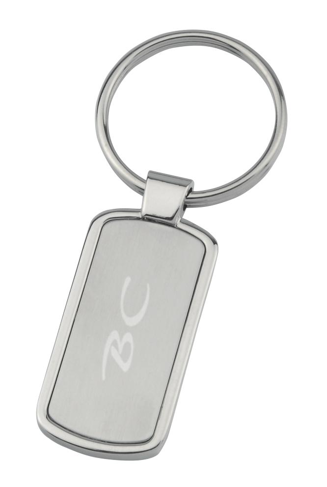 Metallinen avaimenperä Suorakaide