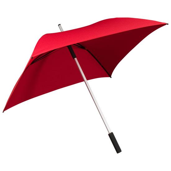 Neliönmuotoinen sateenvarjo Punainen