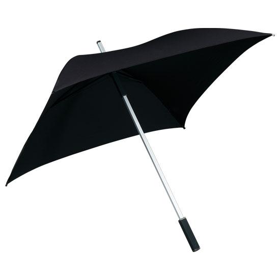 Neliönmuotoinen sateenvarjo Musta