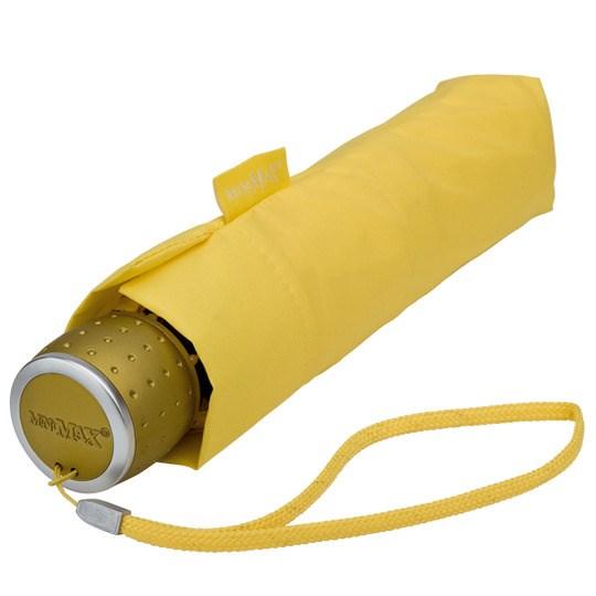Tuulenkestävä lyhyt sateenvarjo keltainen