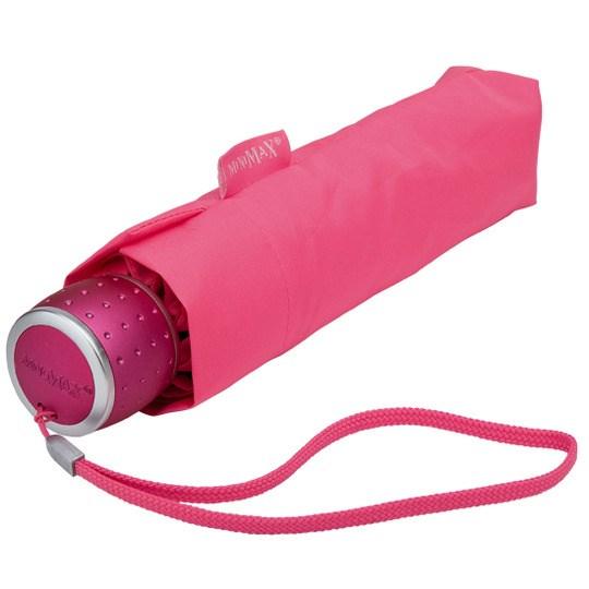 Tuulenkestävä lyhyt sateenvarjo Pinkki