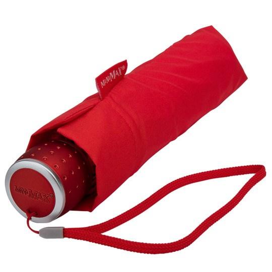 Tuulenkestävä lyhyt sateenvarjo Punainen
