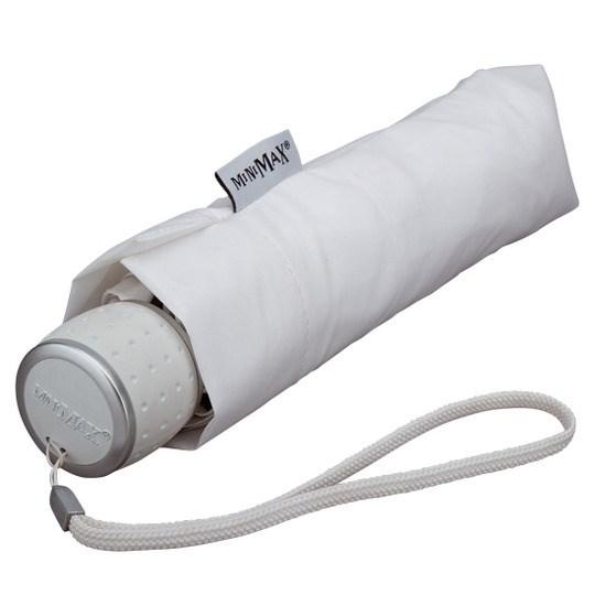 Tuulenkestävä lyhyt sateenvarjo valkoinen