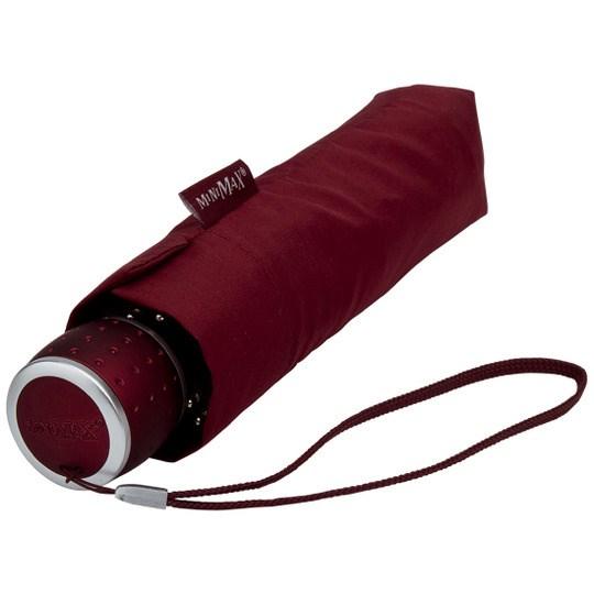 Tuulenkestävä lyhyt sateenvarjo Viininpunainen