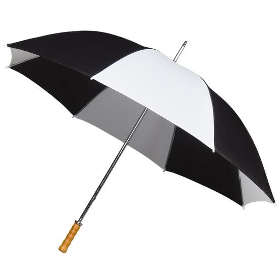 Sateenvarjo musta/valkoinen